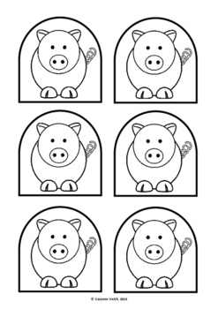 pig puppet template - the three little pigs stick puppet templates 3 little