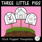 The Three Little Pigs - Stick Puppet Templates (3 little pigs)