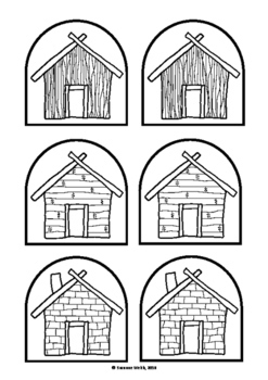 Printable three little pigs house templates | preschool 3 little.