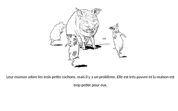 The Three Little Pigs Story and Activities for French 1 or 2