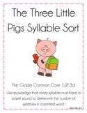 The Three Little Pigs Syllable Sort: Common Core1.RF.3d