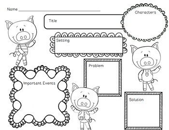 The Three Little Pigs Unit~ Includes Graphic Organizers & Much More!