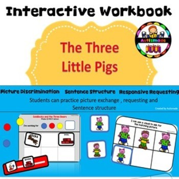 The Three Little Pigs - Visual Interactive Book