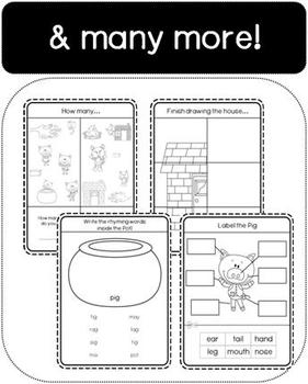 Three Little Pigs Workbook (Literacy and Maths)