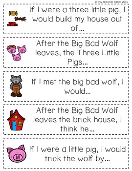 The Three Little Pigs {Writing Resources and Prompts}