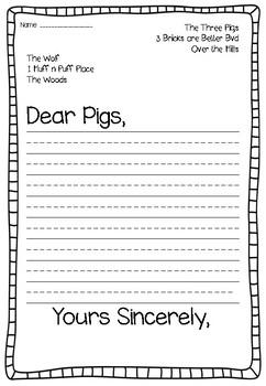 The Three Little Pigs Writing Unit