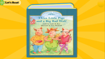 The Three Little Pigs and the Big Bad Wolf Story with Video and Comprehension