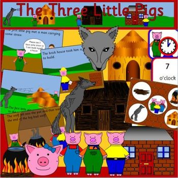 The Three Little Pigs book study story pack PLUS building site role play