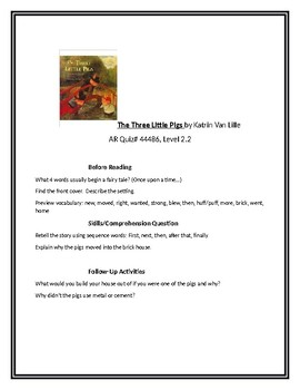 The Three Little Pigs for Guided Reading