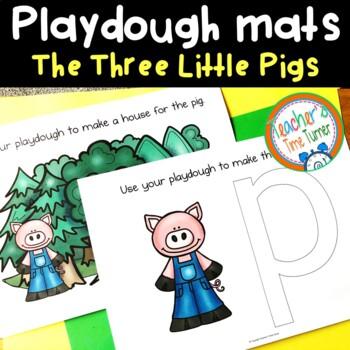 The Three Little Pigs playdough mats