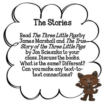 The Three Little Pigs (with  a reader's theater and reader response activities!)