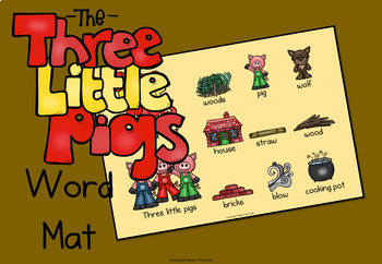 The Three Little Pigs writing papers and bonus wordmat