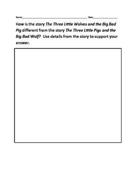 The Three Little Wolves and the Big Bad Pig Comprehension Questions