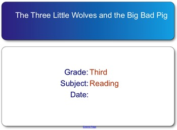 The Three Little Wolves and the Big Bad Pig test