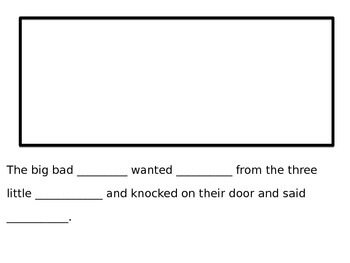 """The Three Little_____"" Story Template"
