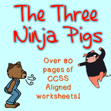 The Three Ninja Pigs- Twisted Fairy Tale- Book Companion Pack