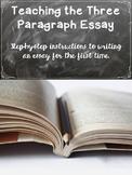 The Three Paragraph Essay