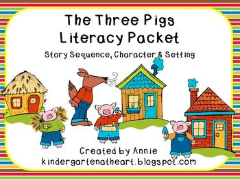 The Three Pig Literacy Packet