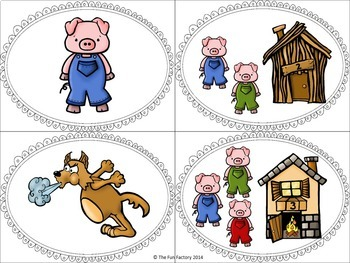 Retelling and Sorting With The Three Little Pigs