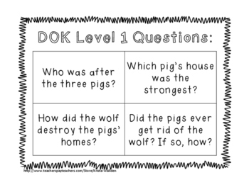 The Three Little Pigs - Comprehension Packet