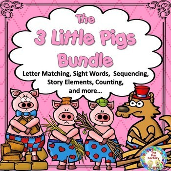 The Three Pigs ~ Math and Literacy ~  Fairy Tale Bundle