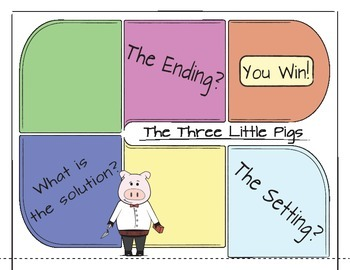 The Three Pigs: Re-Telling & Literature Elements Board Game