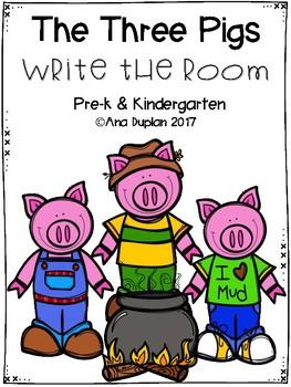 The Three Pigs Write the Room