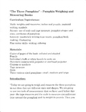 The Three Pumpkins -Weighing and Measuring Book