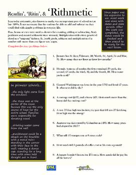 Pioneer Schools - Reading, Riting, Rithmetic