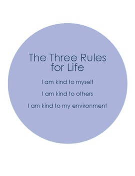 The Three Rules for Life- Sign B