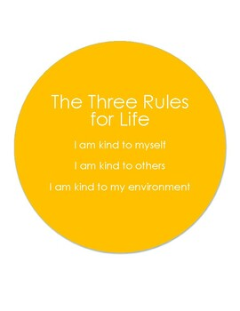 The Three Rules for Life- Sign C