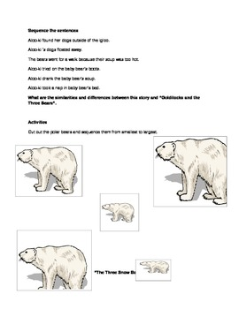 Polar Bear Language Arts Activity
