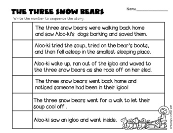 The Three Snow Bears-Goldilocks and the Three Bears Bundle