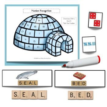 The Three Snow Bears by Jan Brett Literacy and Math Center Activities