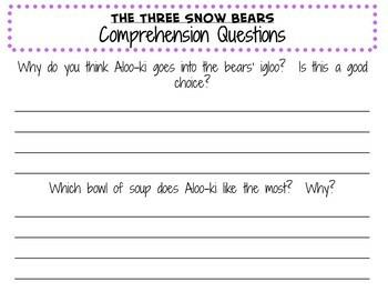 The Three Snow Bears by Jan Brett:  A Complete Literature Study!
