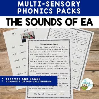 Vowel Digraph ea: Three Sounds of EA practice