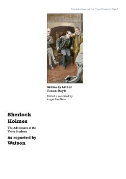 The Three Students- Sherlock Holmes Detective story with writing task