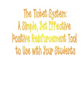 The Ticket System with Student Incentive Coupons