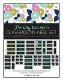 The Tidy Teacher's Classroom Label Set (Blue, Green, Pink, Gold)