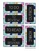 The Tidy Teacher's Classroom Label Set (Blue, Green, Pink, Gold)