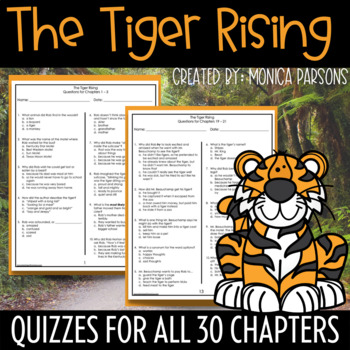 The Tiger Rising Book Quizz... by Monica Parsons | Teachers Pay ...