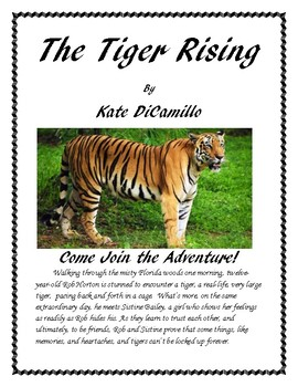 The Tiger Rising Book Report and Lapbook