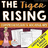 The Tiger Rising: Comprehension and Vocabulary by chapter