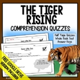 The Tiger Rising Comprehension Questions