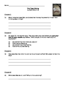 The Tiger Rising - Guided Reading Packet