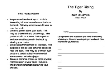 The Tiger Rising Literature Unit