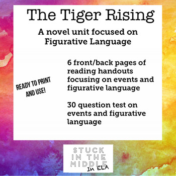 The Tiger Rising Novel Handouts and Test