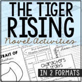 The Tiger Rising Novel Study Unit Activities, In 2 Formats