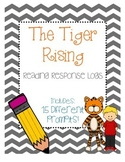 The Tiger Rising Reading Response Log - Kate DiCamillo