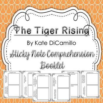 The Tiger Rising Sticky Note Comprehension Booklet